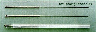 Igły do akupunktury (Fot. E.Ziółkowska)